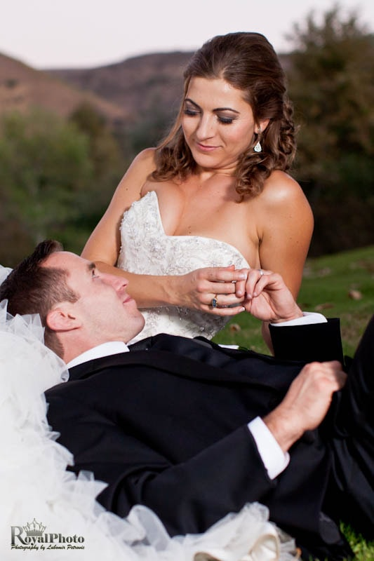 Newlyweds relax