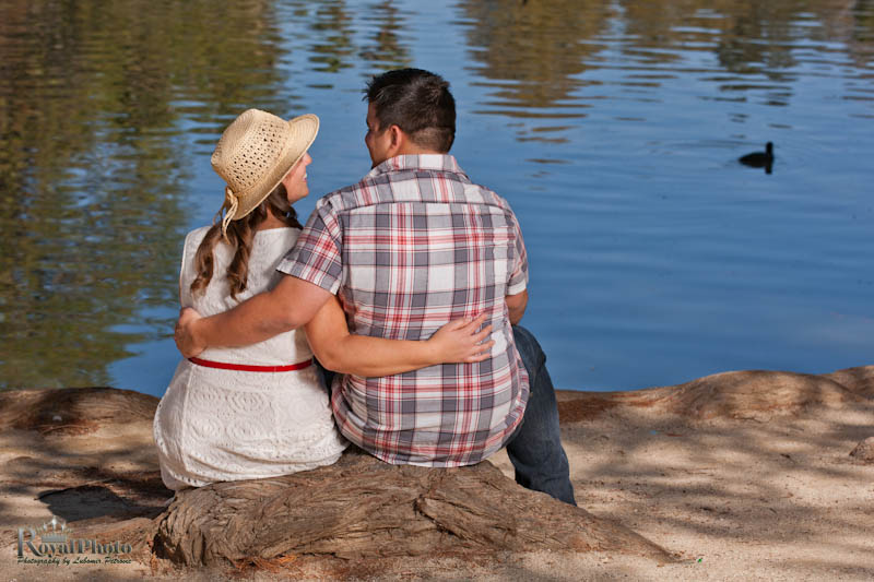 Engagement photo session at the lake
