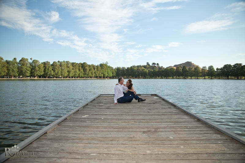 Engagement photography, pier