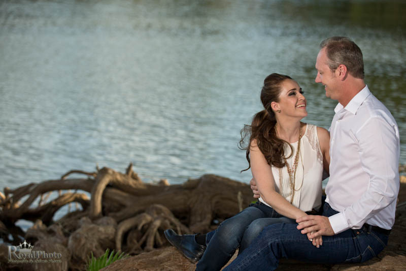 Engagement photography at the lake